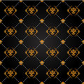 Black and gold pattern Stock Image