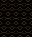 Black and gold pattern Royalty Free Stock Photo