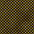 Black and gold  pattern. Abstract polka dot background. Royalty Free Stock Photo