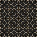 Black and gold seamless pattern in oriental style