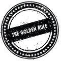 Black THE GOLDEN RULE distressed rubber stamp with grunge texture. Royalty Free Stock Photo