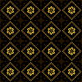 Black and golden vector texture with rhombuses Royalty Free Stock Image