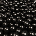 Black gossy balls background d square Stock Photography