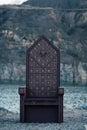 Black gothic throne Royalty Free Stock Photo