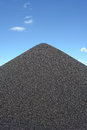Black gravel mound Stock Images