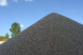 Black gravel mound Stock Photography