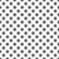 Black and Gray Abstract Floral Seamless Pattern