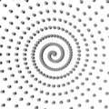 Black gray abstract spiral Stock Photos