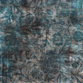 Black gray and blue grungy vintage floral background Royalty Free Stock Image