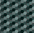 Black and gray dotted hexagons pattern