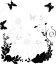 Black and gray floral decoration Stock Images