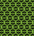 Black and green abstract seamless pattern with interweave lines vector ornament wallpaper endless decorative background visual Stock Photos