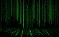Black green binary system code background Royalty Free Stock Photo