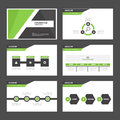 Black and green presentation template infographic elements and icon flat design set advertising marketing brochure flye for flyer Royalty Free Stock Image