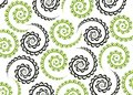 Black green spiral pattern Royalty Free Stock Photos