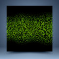Black and green mosaic abstract background