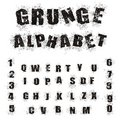 Black Grunge Alphabet Royalty Free Stock Image