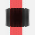 Black grunge banner with red stripe. Royalty Free Stock Photo