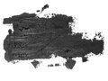 black grunge brush strokes oil paint isolated on white Royalty Free Stock Photo