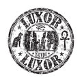 Black grunge rubber stamp with the name of luxor city from egypt Stock Images