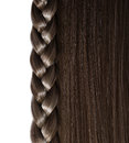 Black hair and braid or plait isolated on white background care hear salon Stock Photo