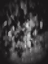 Black Halftone Camo Royalty Free Stock Image