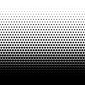 Black halftone vector dots gradient on white background Royalty Free Stock Photo