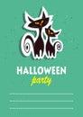 Black halloween cats Royalty Free Stock Photo
