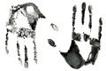 Black hands print Royalty Free Stock Photography