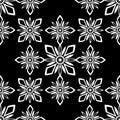 Black harmonic seamless tile