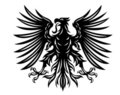 Black heraldic eagle Stock Photos