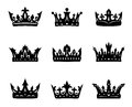 Black heraldic royal crowns Stock Image