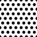 Black hexagons. Vector monochrome seamless pattern