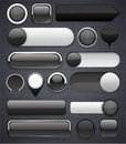 Black high-detailed modern buttons. Royalty Free Stock Photo