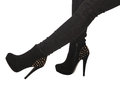 Black high heels Royalty Free Stock Image