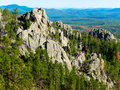 Black hills south dakota taken from the top of custer state park in the of Stock Photo