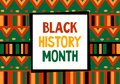 Black history month celebration vector banner. Art with ethnic African patterns. African-American History Month