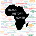 Black History Month Collage Royalty Free Stock Images