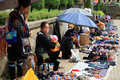 Black Hmong's people sell souvenirs Royalty Free Stock Photography