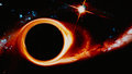 Black Hole Bending Space