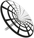 Black hole funnel generated with circles and lines illustration on white background Royalty Free Stock Photo