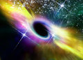 Black hole in space within nebula Royalty Free Stock Image