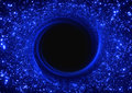 Black hole supermassive in the center of the galaxy Royalty Free Stock Photos