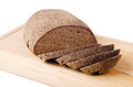 Black homemade bread isolated on white Stock Photography