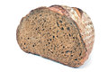 Black homemade bread isolated on white Stock Photo