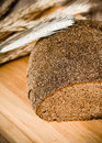 Black homemade bread and rye cones close up Royalty Free Stock Image