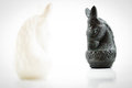 Black Horse Chess Face White H...