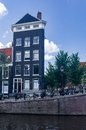 Black House on Prinsengracht in Amsterdam Royalty Free Stock Photo