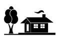 Black house silhouette
