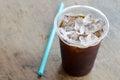 Black ice coffee Royalty Free Stock Photo